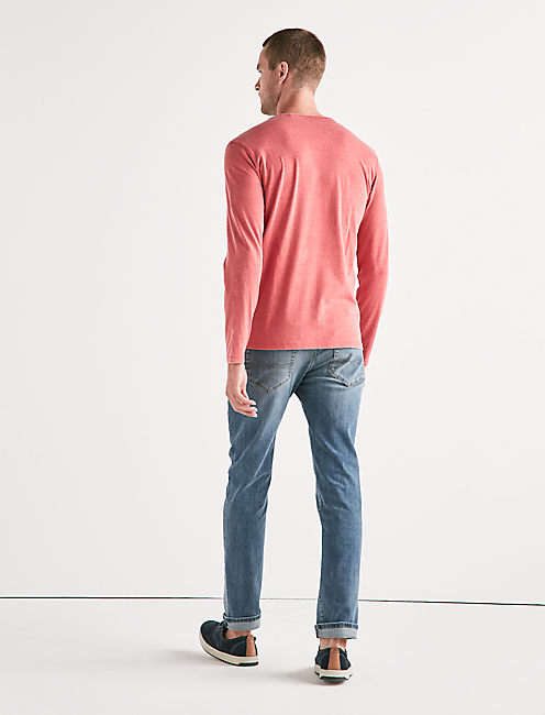 VENICE BURNOUT BUTTON HENLEY,