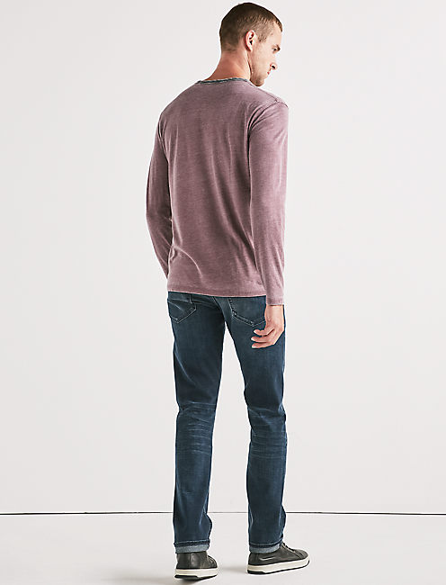 VENICE BURNOUT NOTCH RINGER TEE, PORT ROYALE
