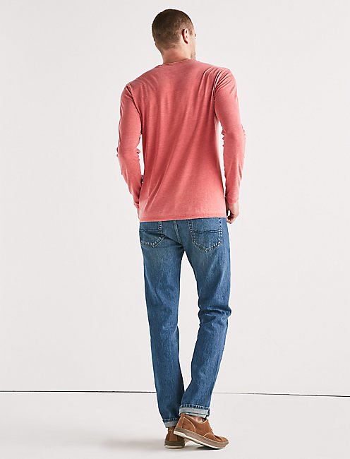 VENICE BURNOUT NOTCH RINGER LONG SLEEVE TEE,
