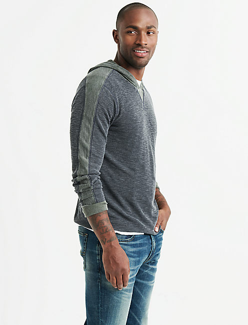 VENICE BURNOUT THERMAL HOODY,