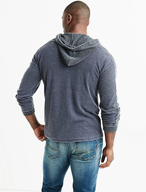 VENICE BURNOUT THERMAL HOODY, NIGHT SKY
