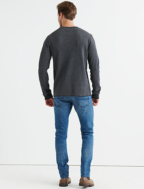 STRONG BOY FLECK THERMAL CREW, CHARCOAL