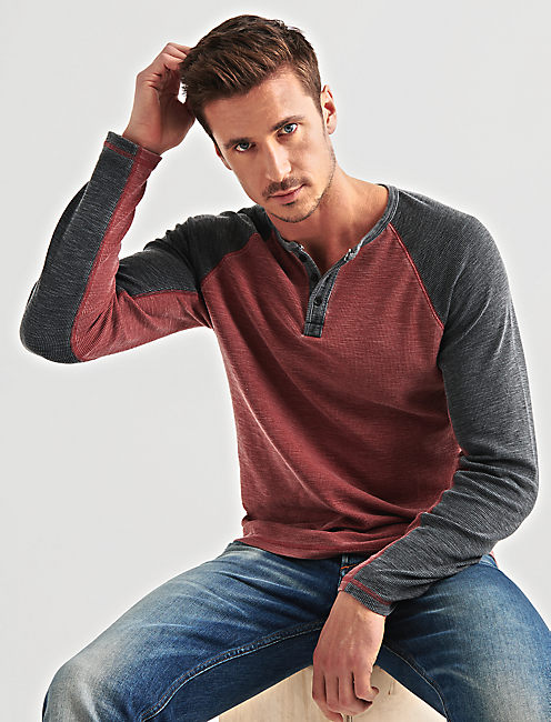 VENICE BURNOUT RAGLAN THERMAL, FIRE BRICK