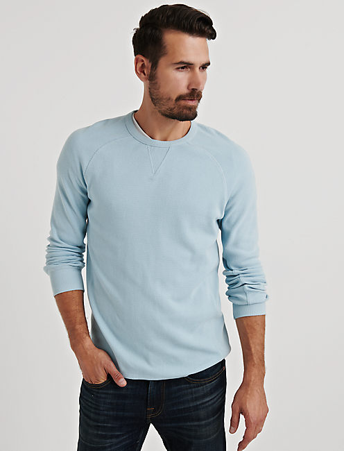 STRONG BOY BOX STITCH THERMAL CREW,