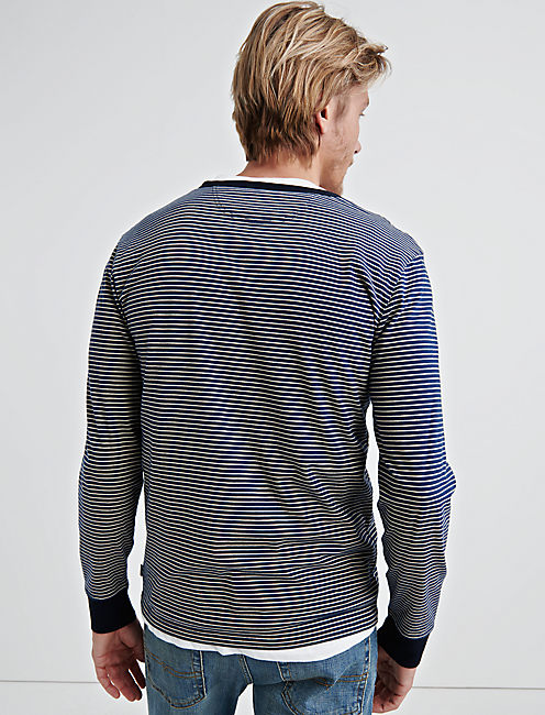 YD STRIPED JERSEY HENLEY,