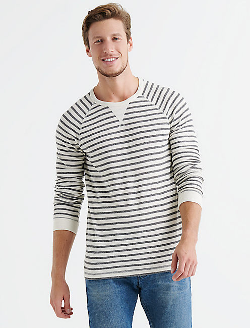 STRIPED THERMAL CREW, MULTI
