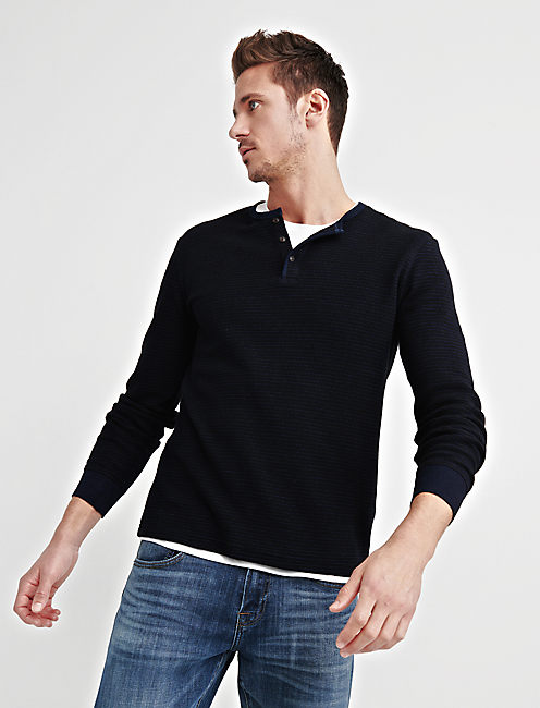 Lucky Striped Thermal Henley