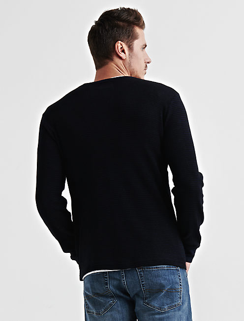 STRIPED THERMAL HENLEY,
