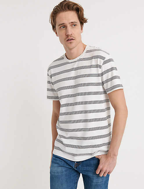 FINE STRIPE CREW, MULTI