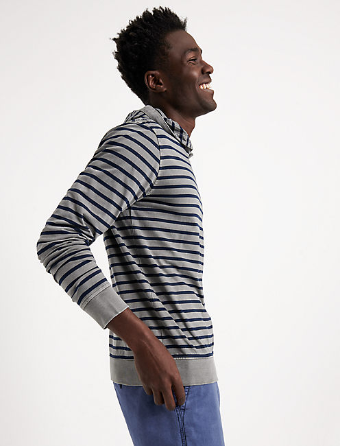STRIPED POPOVER HOOD, MULTI