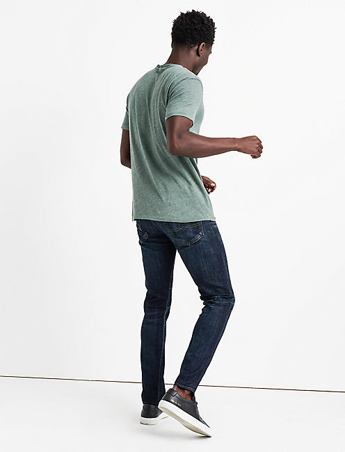 LINEN ONE POCKET TEE, LAUREL WREATH