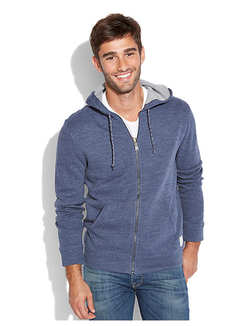 GREY LABEL PERFECT HOODIE, NAVY HEATHER