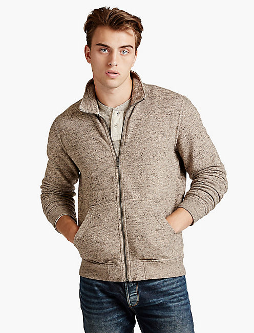 MOCK NECK FULL ZIP,