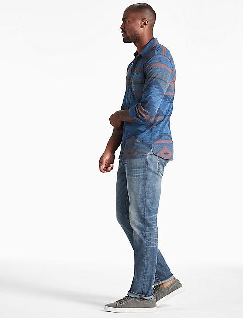 Indigo Printed Jersey Shirt,