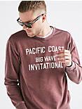 Big Wave Burnout Crew Sweatshirt,