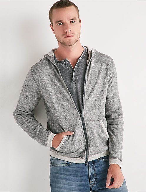 COOLMAX ZIP HOODIE, HEATHER GREY