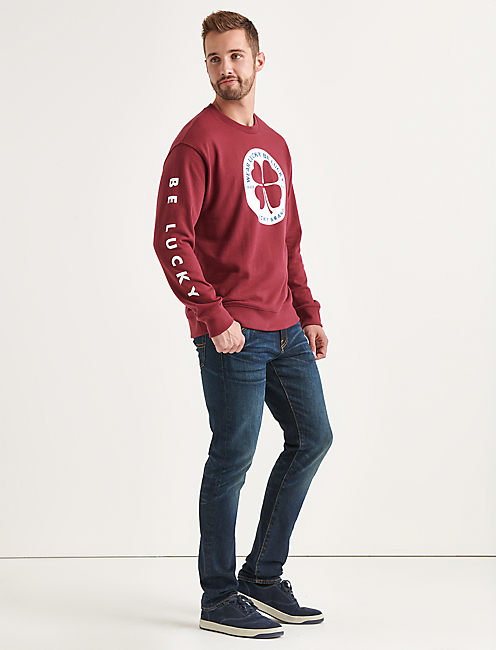 Lucky Totally Lucky Clover Circle Crew Sweatshirt