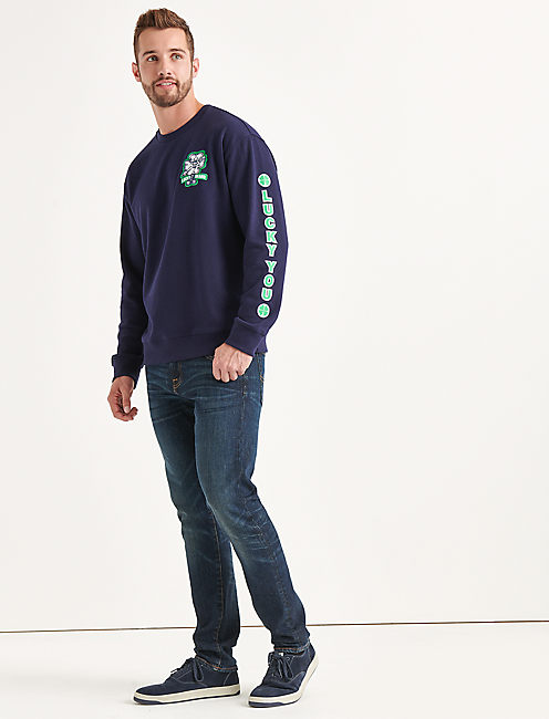 Lucky Totally Lucky Patch Crew Sweatshirt