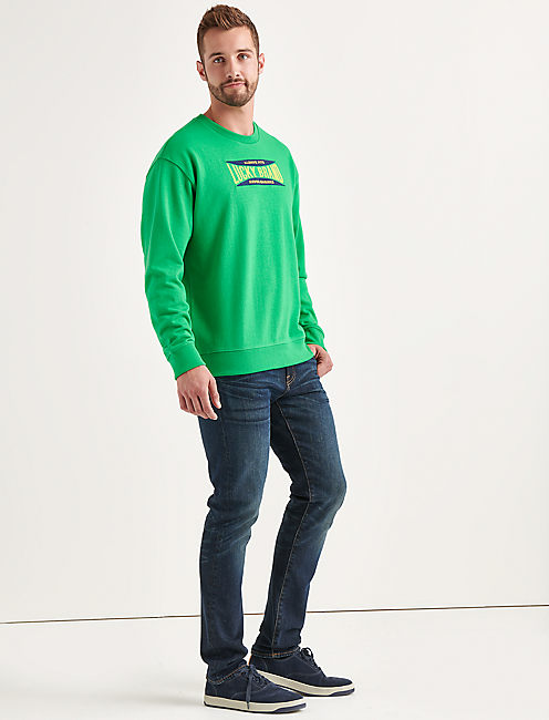 Lucky Totally Lucky Stretch Logo Crew Sweatshirt