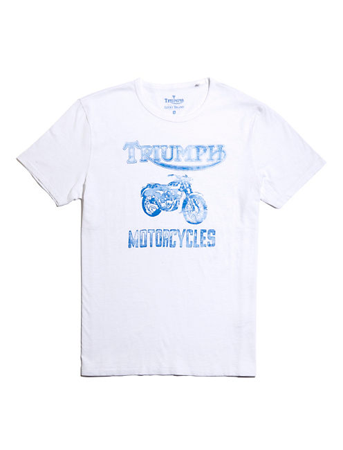 MOTORCYCLES TEE, BRIGHT WHITE