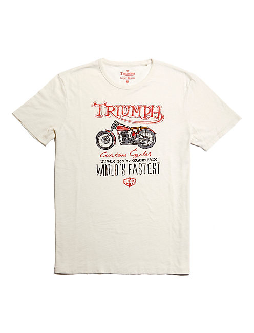 TRIUMPH HAND SKETCH TEE, TURTLEDOVE