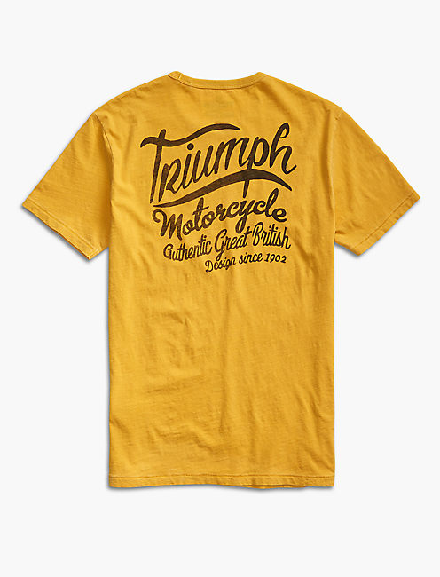 TRIUMPH GREAT BRITISH TEE, GOLDEN SPICE