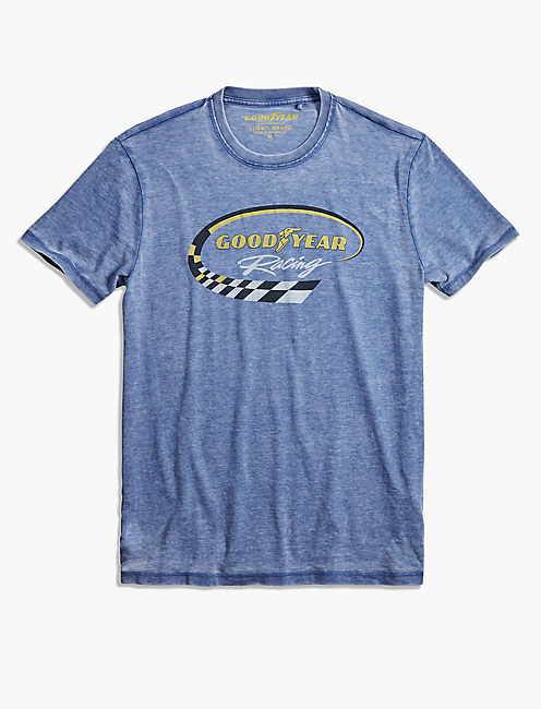 GOODYEAR RACING SWIRL TEE, MONACO BLUE