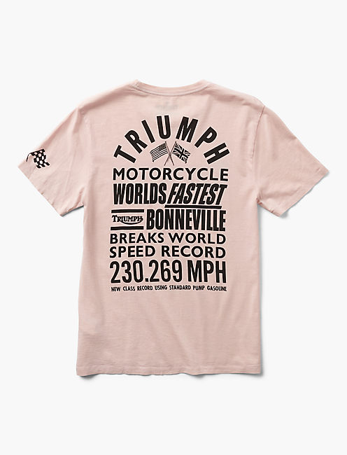 TRIUMPH SPEED RECORD TEE,