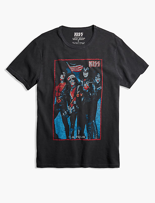 KISS SPIRIT OF '76 TEE, JET BLACK