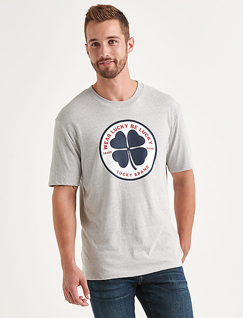 Totally Lucky Clover Circle Tee,