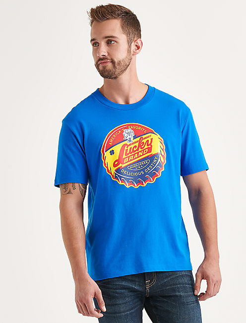Totally Lucky Bottle Cap Tee,