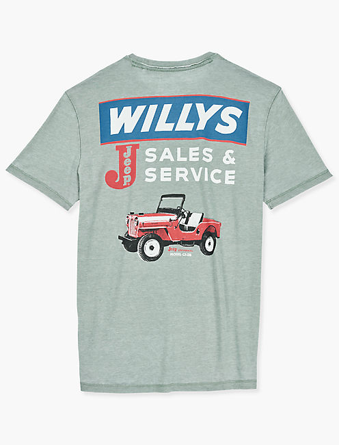 JEEP WILLY SALES TEE, LAUREL WREATH