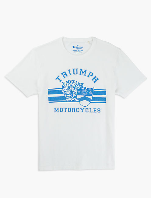 TRIUMPH CYCLES TEE, BRIGHT WHITE