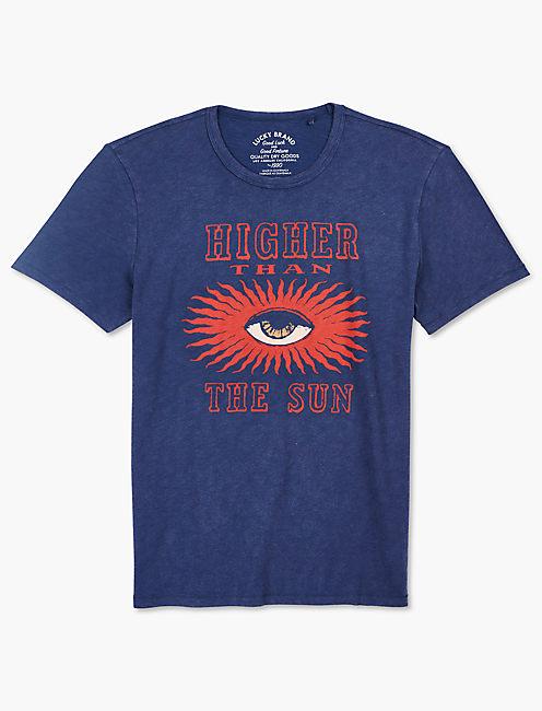 HIGHER THAN THE SUN TEE, AMERICAN NAVY