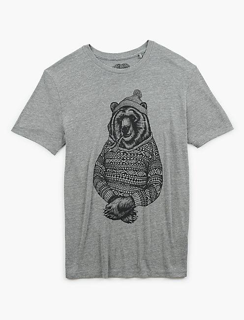 BEAR SWEATER TEE, GREY