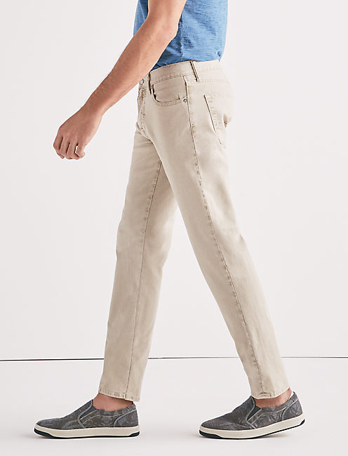 221 STRAIGHT STRETCH CANVAS JEAN, SALTED KHAKI