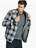 PLAID SHERPA JACKET, BLACK MULTI