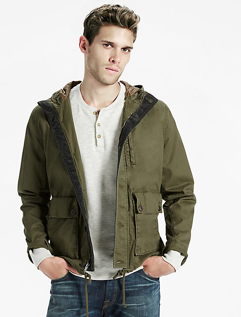 COURDROY TRIM PARKA,