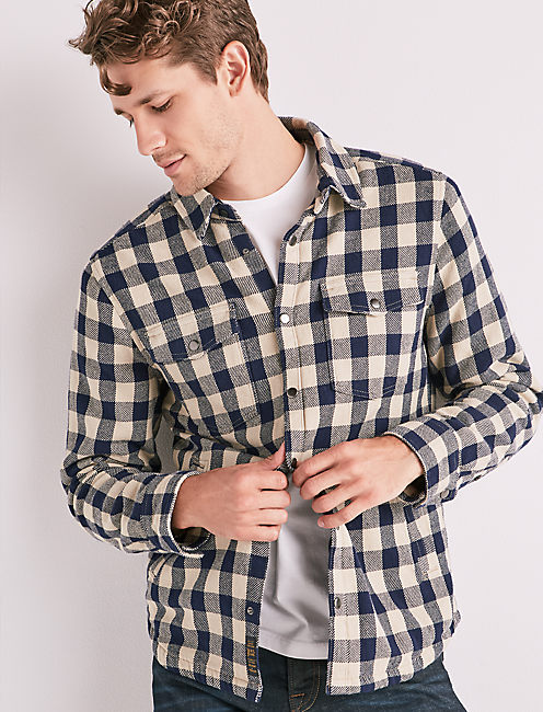 PLAID SHIRT JACKET,