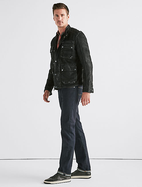 Lucky Four Pocket Leather Jacket