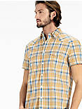 San Gabriel Western SHIRT, YELLOW PLAID MULTI
