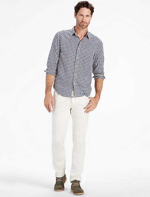 Lucky Long Sleeve 1 Pocket White Label Shirt