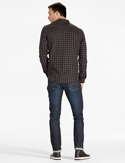Small Check Western Shirt,