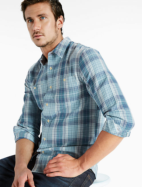 Indigo Workwear Shirt,
