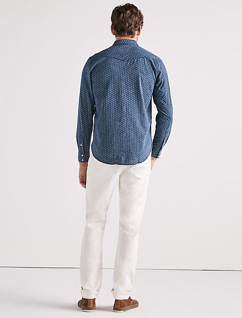 Indigo Printed Western Shirt,