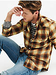 Flannel Western Shirt, GOLD MULTI