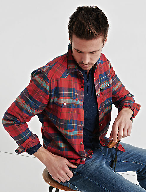Lucky Flannel Western Shirt