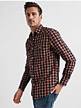 Long Sleeve SANTA FE WESTERN Shirt, BLUE/RED PLAID