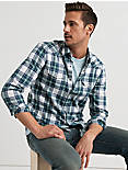 Mateo Western Shirt, BLUE/GREEN