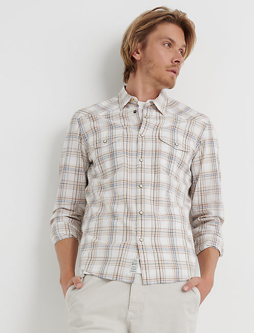 SANTA FE WESTERN, NATURAL PLAID